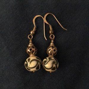 Bead drop earrings.